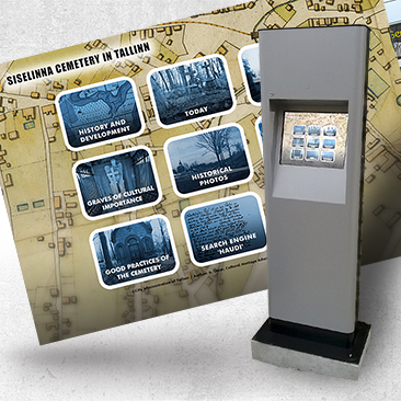 Info Kiosk for Inner City Cemetery. Created by Bink Creations