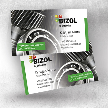 Bizol Business cards. EST / ENG. Desing by Bink Creations
