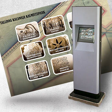 Info kiosk for Kalamaja Cemetery Park by Bink Creations