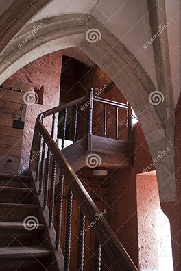 Stairway in the castle and fortress of Kuressaare by Bink Creations