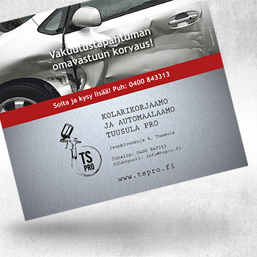 Advertisement for car paint workshop by Bink Creations