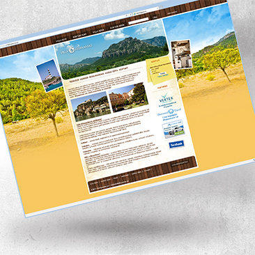 Villahispaanias website by Bink Creations