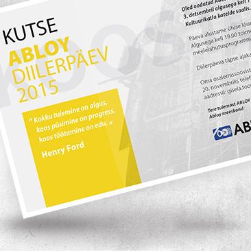 Abloy Diilerpäeva digitaalne kutse. Disain loodud Bink Creations poolt