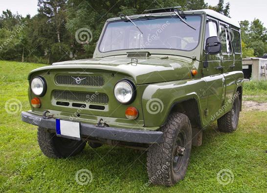 Vana Vene maastikuauto UAZ. Bink Creations Fotopank
