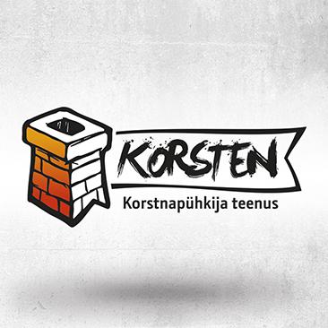 Korsten OÜ-le tehtud logo. Loodud Bink Creations poolt