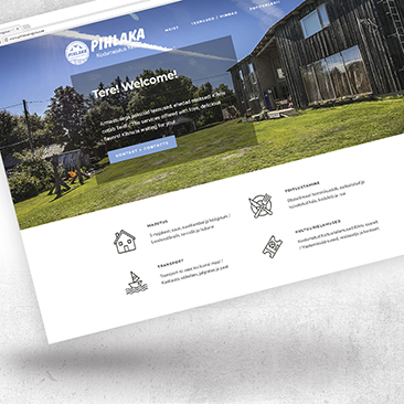 Skaleeruv, dünaamiline veebilehe disain. Loodud Bink Creations poolt
