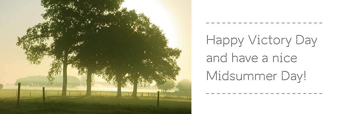 Happy Victory Day and Have a Nice Midsummer Day! Greetings from Bink Creations