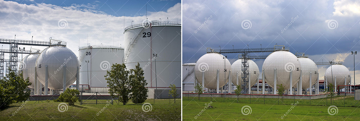Sold two photostock photos. Oil and Gas storage tanks. Photos taken in Paldiski, Estonia.