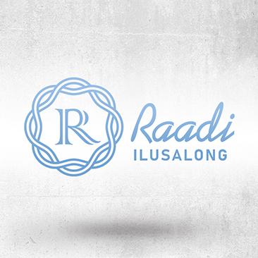 Raadi Ilusalongi logo. Loodud Bink Creations poolt.